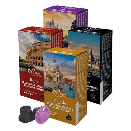 64 Kapseln Assortiert | Cremesso® Delizio® | Italian Coffee